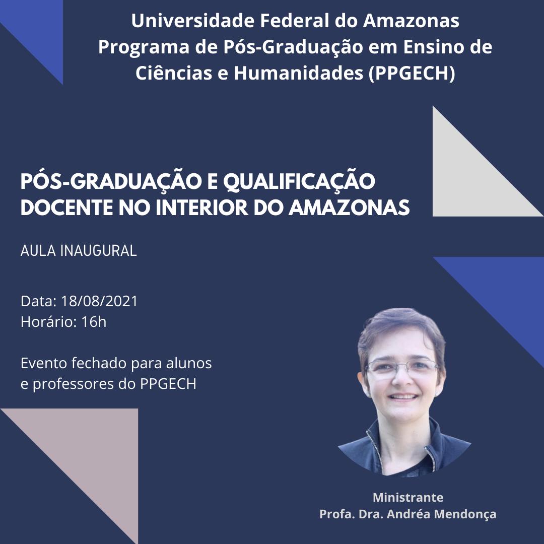 AULA INAUGURAL DO SEGUNDO SEMESTRE DE 2021